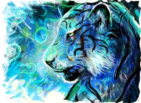 blue artist project blue tiger louis dyer visionary digital artist