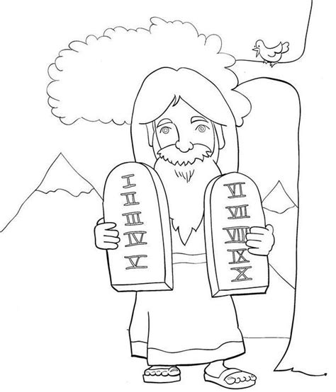 Ten Commandments Coloring Pages Coloring Home Coloring Pages 10 Commandments