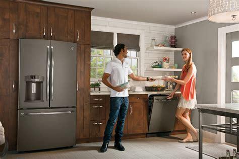 ge adora appliances slate finish kitchen pinterest ge modern kitchen with quot slate quot appliances finally not