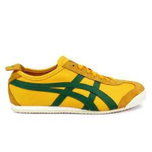 onitsuka tiger mexico 66 leather yellow amazon green trainers