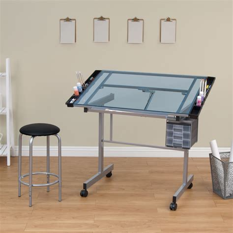 drafting tables hobby lobby vision craft table with stool shop from hobby lobby silver glitz