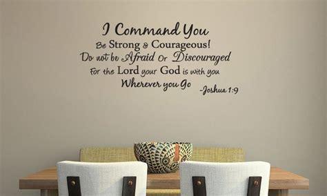 i command you joshua 1 9 scripture vinyl wall decal words
