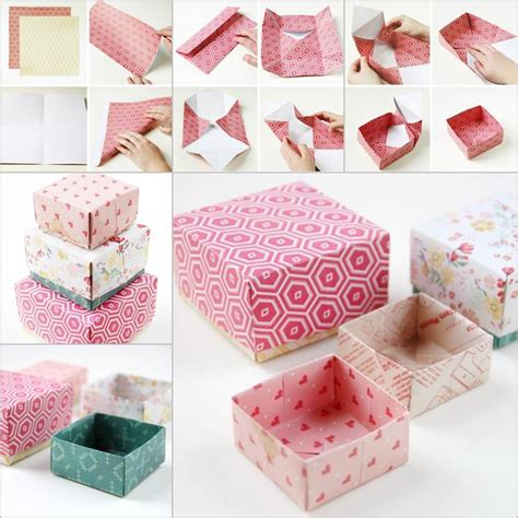 Origami Birthday Box - creative ideas diy origami gift box origami gifts
