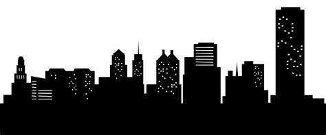 City Outline Vector by Skyline Silhouette Cliparts Co