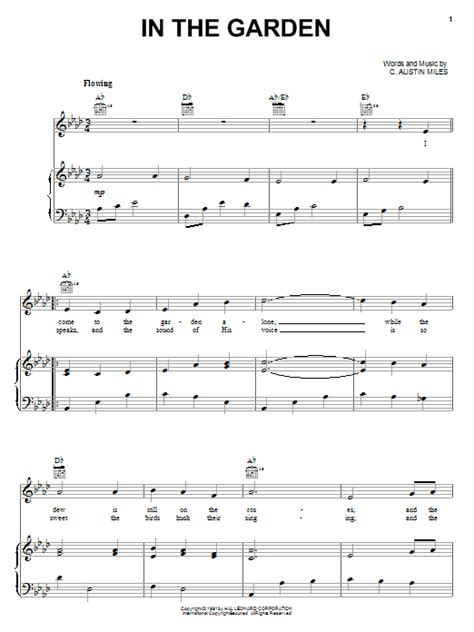 Song In The Garden in the garden sheet by c piano vocal