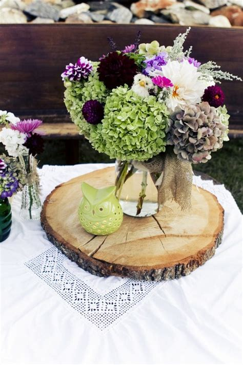 rustic wood wedding centerpieces rustic wedding centerpiece with wood slab wedding day pins you re 1 source for wedding pins