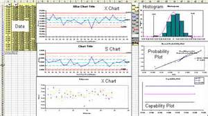 Spc Chart Excel Template by X Bar S Chart Excel Template Average And Standard Deviation