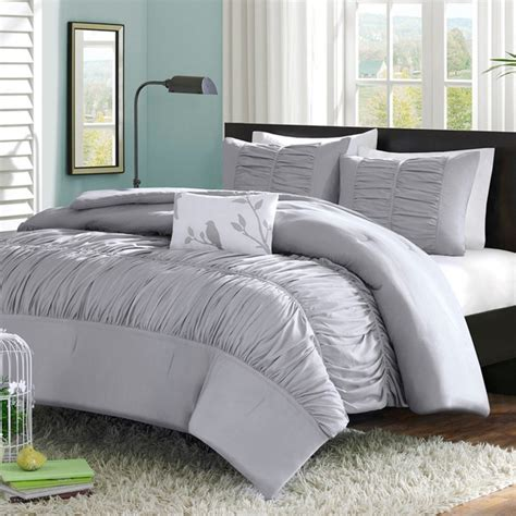 grey bedding set mizone mirimar twin xl comforter set grey free shipping