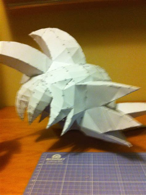 goku wallpaper craft papercraft goku wig side by pivscake on deviantart