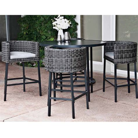 high top patio dining set 5 leisure la danta dining set by leisure select