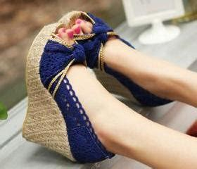 Wedges Adl 912 Wedges Ct high braided wedge heel crochet lace peep toe sandal grzxy61900382 on luulla