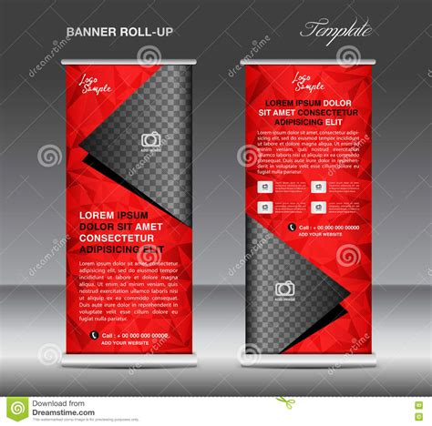 roll up stand design templates roll up banner template vector stand flyer design