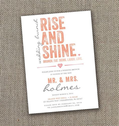 next day wedding invites fabulous breakfast and brunch wedding ideas for the early birds modwedding
