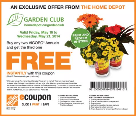 the home depot garden club coupons buy any two vigoro