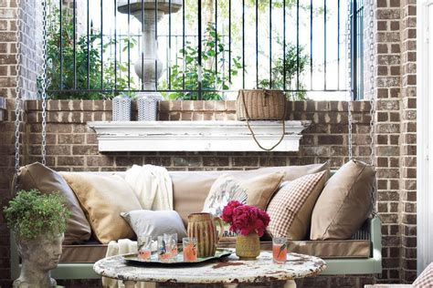 rustic porch swings rustic porch swing peaceful porch swings southern living