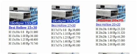 Besi Hollo 2x4 Galvanis 0 6 pt agung surya putra besi siku hollow beton