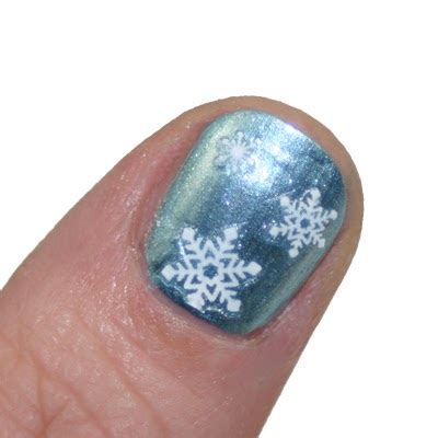 nagel stickers frozen nagellack de nail snowy winter