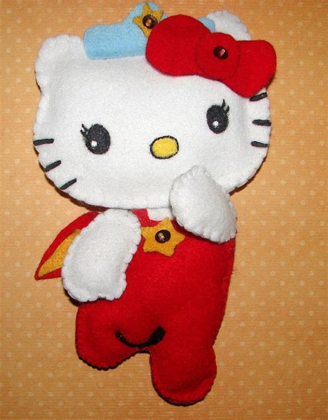 felt pattern hello kity hello kitty felt craft 183 how to make a cat plushie