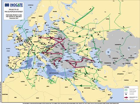 russia europe pipeline map proposed european crude pipelines map europe mappery