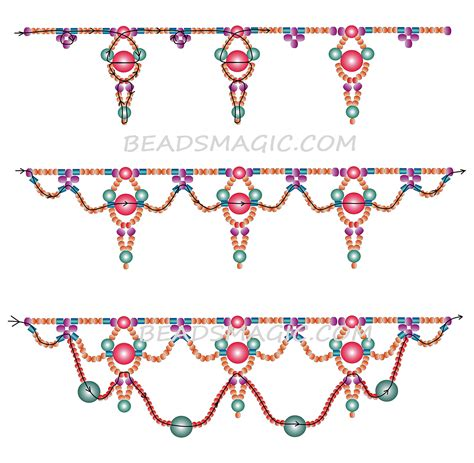 pattern magic tutorial 1000 images about beadsmagic necklaces on pinterest