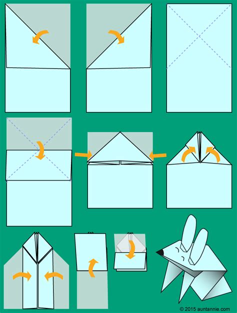 Jumping Origami - make a jumping origami bunny easter and crafts
