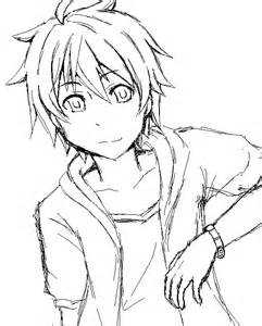 Hair And Anime Face Coloring Pages Anime Boy Coloring Pages