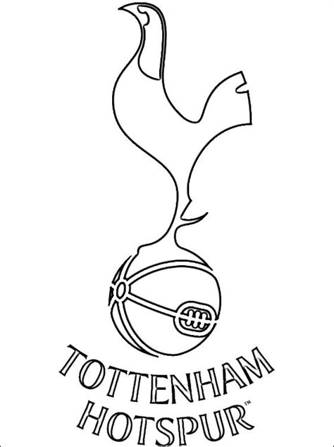 coloring page of tottenham hotspur logo coloring pages