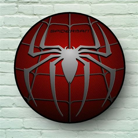 large spiderman logo picture plaque kids room usa retro