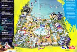 Wet N Wild Orlando Map wet n wild 2008 park map