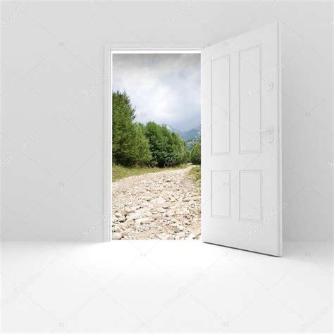 Unlock Door From Outside 3d open door and a view outside stock photo 169 digitalgenetics 2080401
