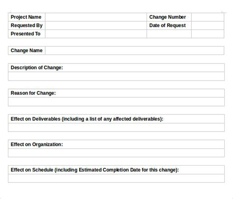 change order template sle change order template 10 free documents in pdf