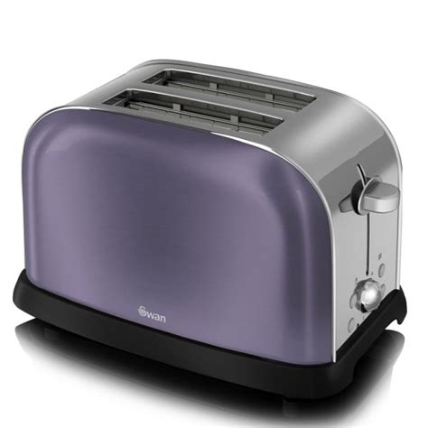 Purple Toaster Oven Swan Metallic 2 Slice Toaster Purple Homeware Thehut
