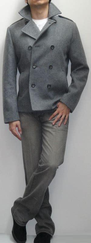 light grey peacoat mens light grey pea coat white t shirt gray bootcut black