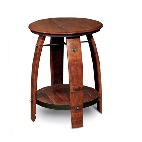 barrel accent table 2 day designs wine barrel side table on sale