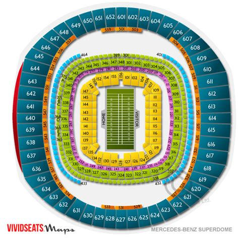 mercedes superdome seating 3d superdome tickets mercedes superdome seating chart
