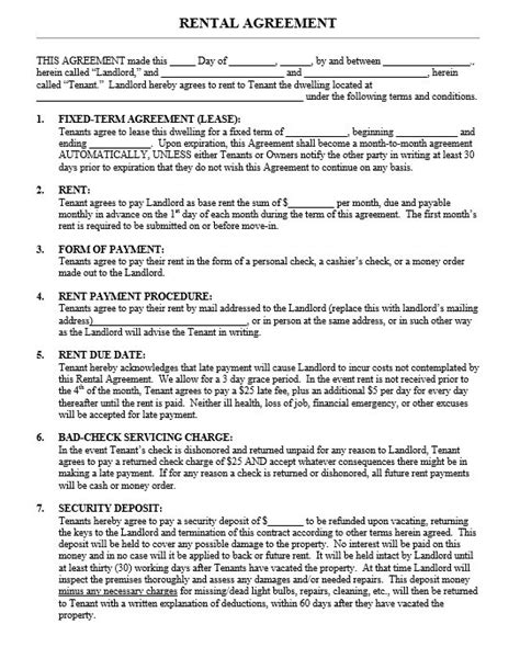12 free sle legal lease agreement templates printable