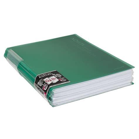 Kokuyo Novita Clearbook P N20 kokuyo display book a4 novita 20 pocket green officeworks