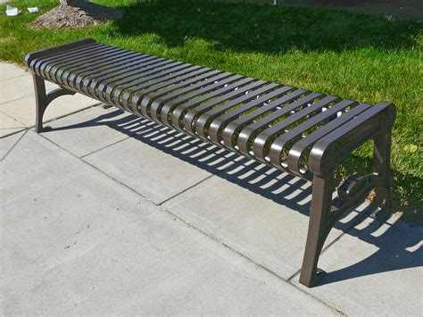 vertical bench manchester vertical slat backless bench with cast iron