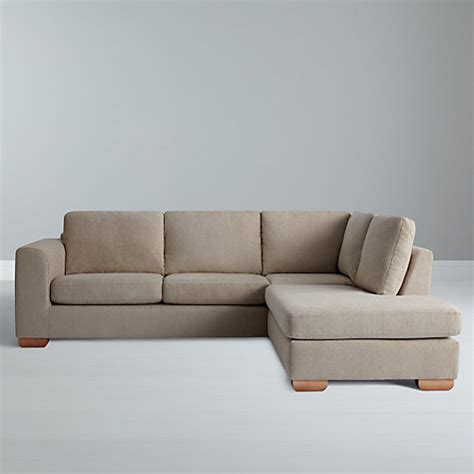 sofa with chaise end buy john lewis felix rhf corner chaise end sofa with light