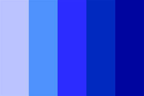 colors of blue shades of blue color palette