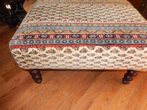 tapestry ottoman vintage george smith tapestry upholstered ottoman or stool