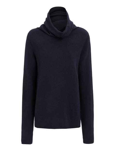 High Neck Sweter N lyst joseph stretch high neck sweater in blue