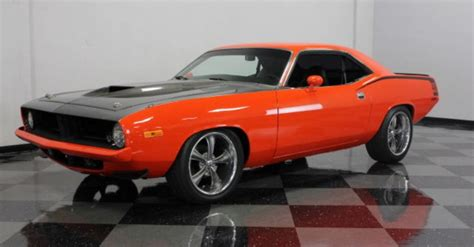 modded muscle cars 1974 plymouth barracuda 440 v8 resto mod cars