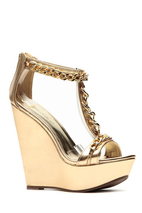 Gold Bridal Wedges by The Gallery For Gt Gold Wedge Wedding Shoes