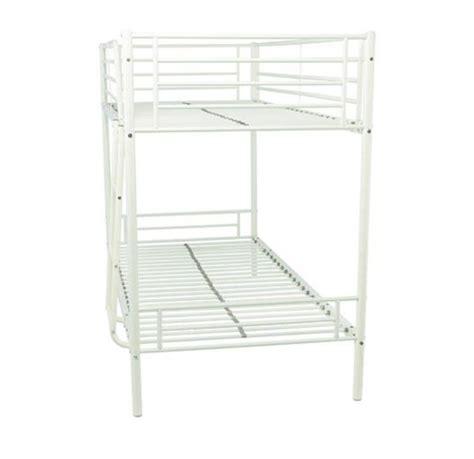 shorty bed frame mika shorty bunk bed frame white 2ft6 bed children s