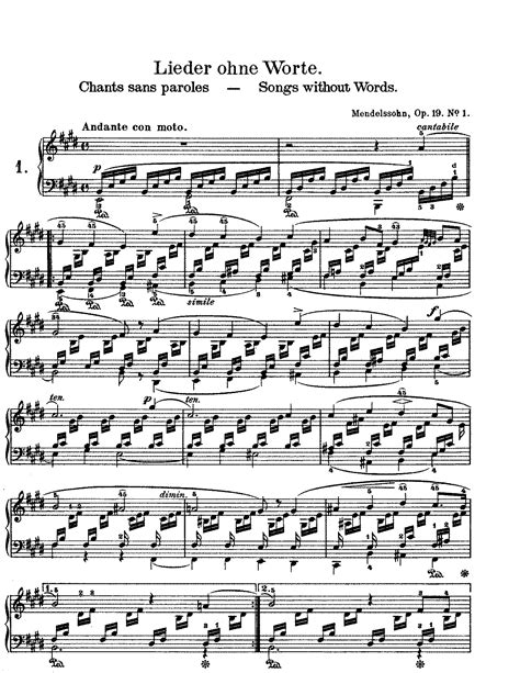 0001125354 romances sans paroles songs without musiclassical notes mendelssohn songs without words book