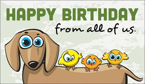 Birthday Wishes From All Of Us Card