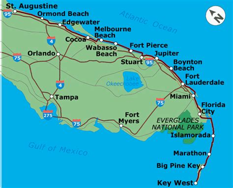 map us atlantic coast detail