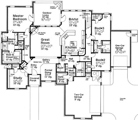 appealing country home plan
