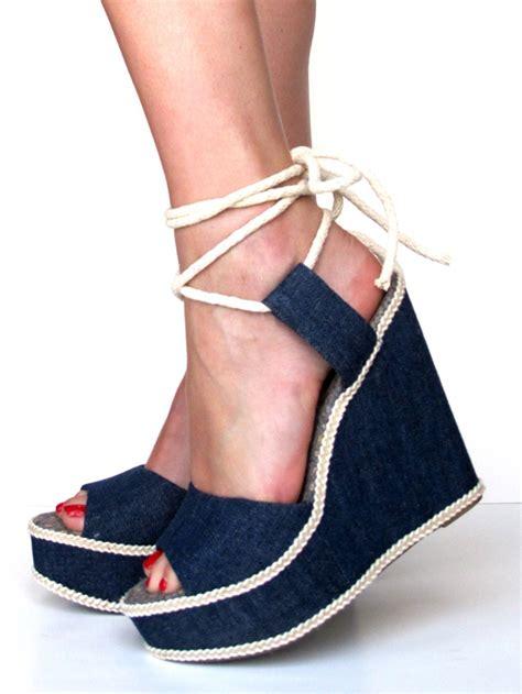diy denim shoes diy denim wedges on what i wore